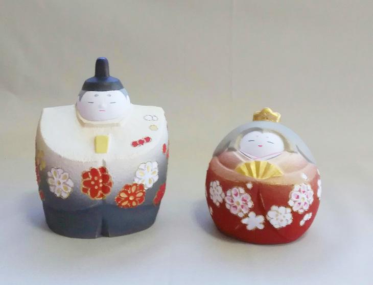 博多人形師 緒方恵子の作品「愛楽雛」