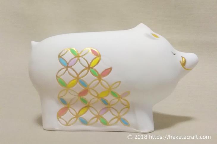 博多人形師 緒方恵子の作品「七宝亥」