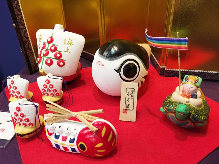 下関郷土玩具ふく笛などの垣内敬一人形