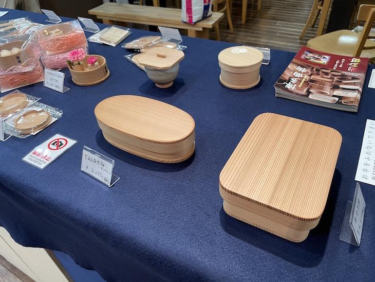 工芸との出会い展で柴田玉樹制作の博多曲物が展示販売されています