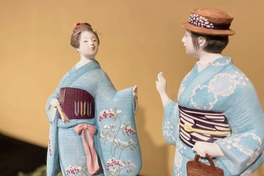 博多人形未来展(2021年8月3日-8日 アクロス福岡)に出展の緒方恵子の作品「明和/令和」
